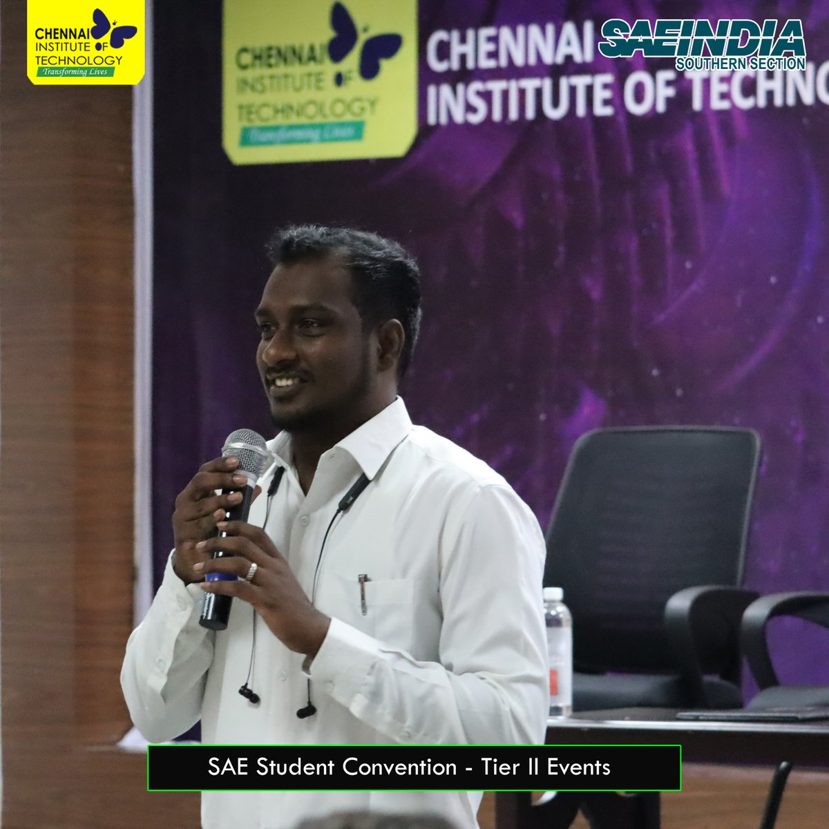 Inauguration of SAE India Southern Section - Tier II Student Convention 2020 at #ChennaiInstituteOfTechnology on 15th Feb, 2020 #SAE #SAEINDIA #StudentConventionpic.twitter.com/aSzoDyfOWy