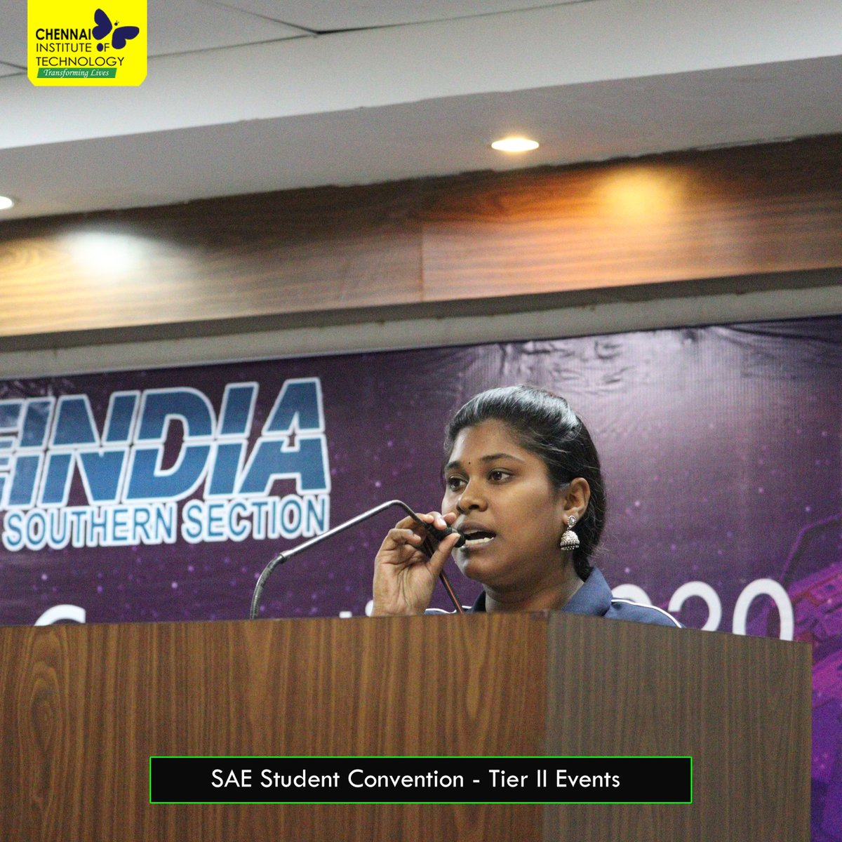 Inauguration of SAE India Southern Section - Tier II Student Convention 2020 at #ChennaiInstituteOfTechnology on 15th Feb, 2020 #SAE #SAEINDIA #StudentConventionpic.twitter.com/DL0sOTcE9Z