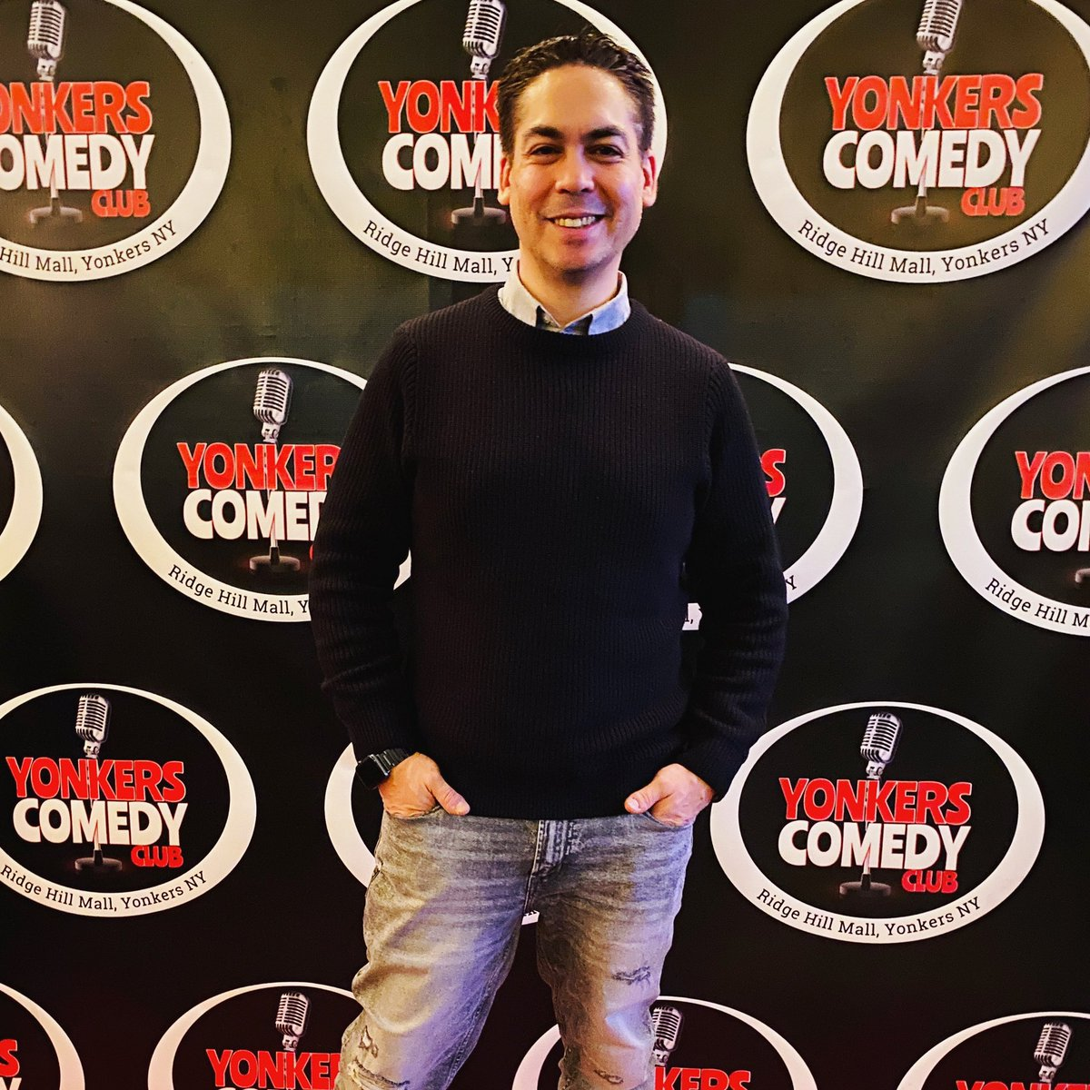 Thank you @yonkerscomedyclub for having me tonight! #Vdayspecial #comedylife 🎤