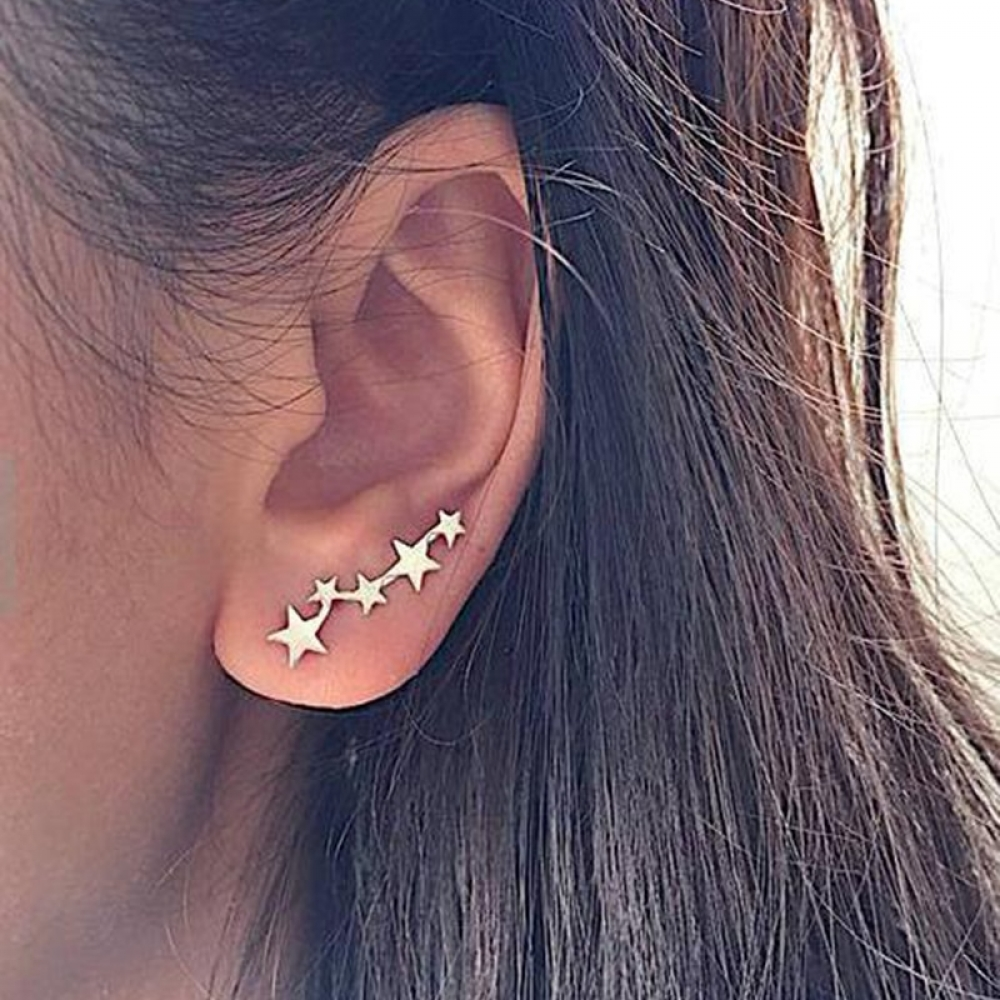 HHEIDI - Women's Cute Star Shaped Climber Earrings -    #artisan #jewelrydesign #jewelrygram #jewelrymaker #etsyshop #etsyjewelry