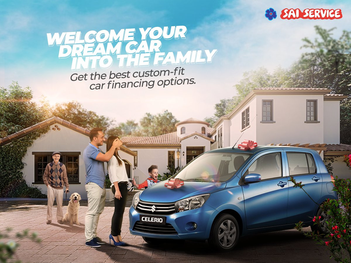 Can't stop dreaming of your favorite car? With flexible EMI options, Sai Service will help you make those dreams a reality.  For more information on our car finance visit https://bit.ly/36jByzL  #SaiService #AuthorisedDealers   #CarFinance #Marutisuzukicars #Nexapic.twitter.com/EtKHx1yYSs