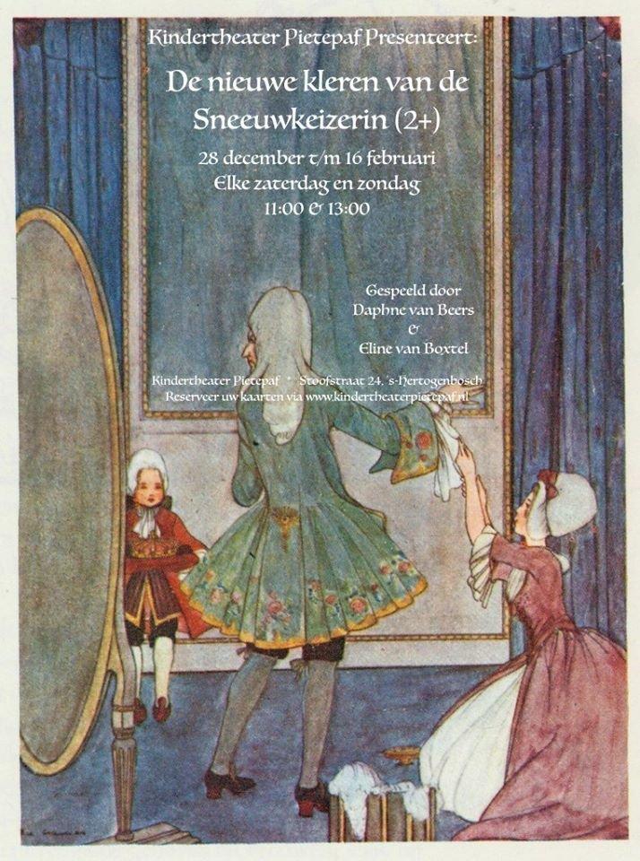 #kindertheater #denbosch zaterdag 15 februari 11.00 uur Kindertheater Pietepaf 'Nieuwe kleren van de Sneeuwkeizerin'(2+) http://www.voormijnkind.nl/component/jem/event/859-kindertheater-pietepaf-nieuwe-kleren-van-de-sneeuwkeizerin-2… 13.00 uur http://www.voormijnkind.nl/component/jem/event/860-kindertheater-pietepaf-nieuwe-kleren-van-de-sneeuwkeizerin-2…pic.twitter.com/8KyKEzLQyO