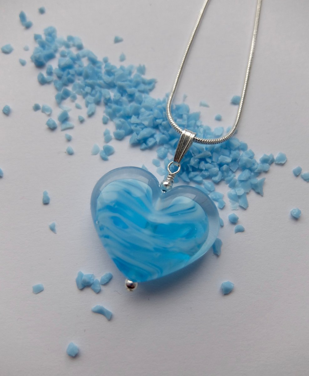 ❤️Need a last-minute gift?❤️ Pop by the shop, Heart Pendants Only £20 FOR VALENTINES or order online      #valentines #hearts #heartnecklace #heartpendant #valentinegift #valentineglassheart #handmadevalentinegifts