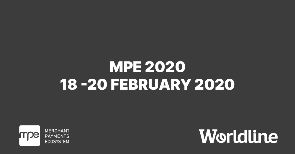 #Worldline will be present at #MPE2020 in #Berlin, the biggest #payment acceptance event in #Europe! We will be discussing the future of #payments, #retailers' challenges and much more. Will you be there? Contact us to arrange a meeting. https://okt.to/4f5ukv