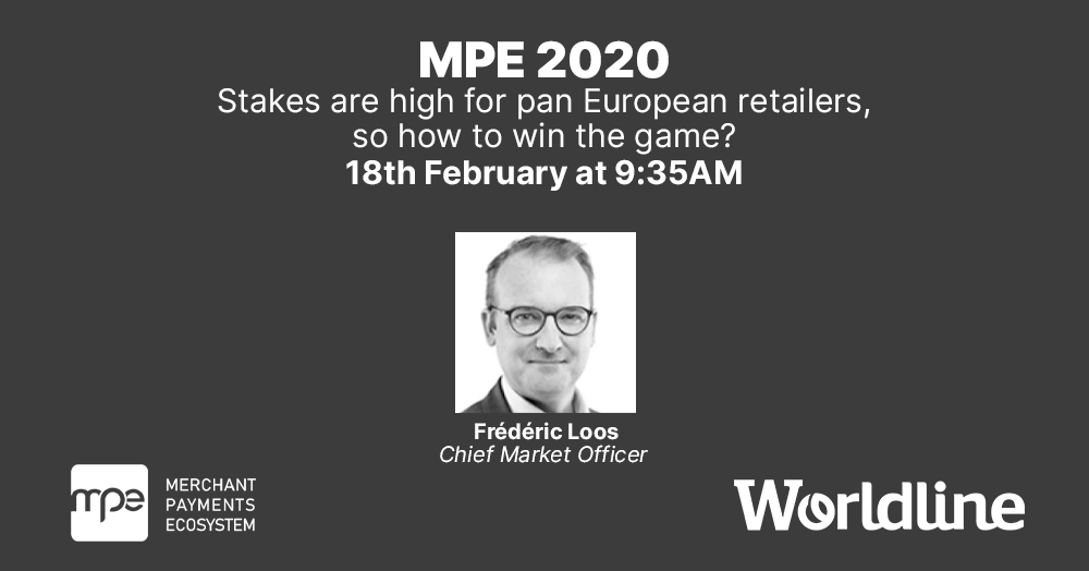 Are you going to the #MPE2020 in #Berlin on 18-20 February? Don't miss the opening #keynote on #retailers' challenges, delivered by @loosfred, #Worldline's Chief Market Officer. https://okt.to/9J1Mdl