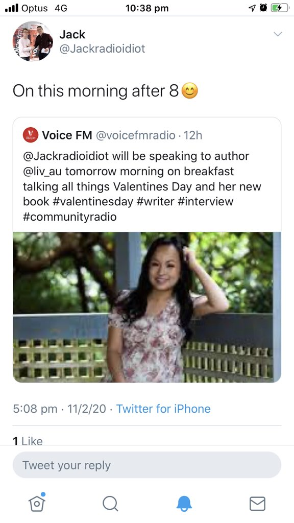 Did 5 radio interviews this week and didn't melt down. 😅  Listen to me on @voicefmradio with the amazing @Jackradioidiot. I'm around the 1:08 mark.  I chat about Etched in Stone, #Romance and #ValentinesDay .   https://t.co/8FUJpptqMv #radio #faceforradio #writerslift #BookBoost https://t.co/Z1sn4ifIFD