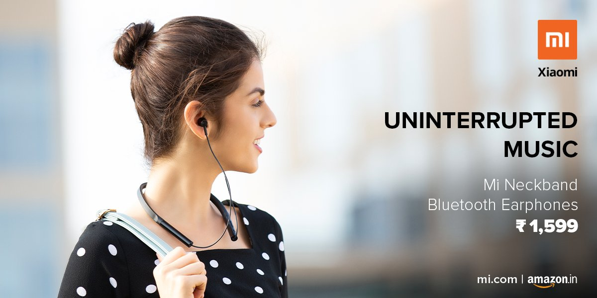 Mi India On Twitter More Music Less Tangle Groove On Your Favourite Beats Hands Free With Mi Neckband Bluetooth Earphones Now Available On Amazonin Check Out Https T Co Qmrg91di3e Https T Co Vcxvihhzed