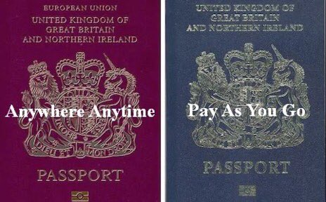 I'd rather have a burgundy coloured EU passport that gives unrestricted freedom of movement to live, work, study and travel around 27 other countries than a blue coloured UK passport that doesn't offer these freedoms. Please retweet if you agree.