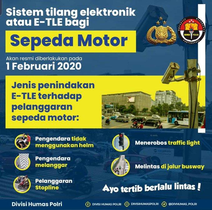 ESTE terhadap pengendara sepeda motor berlaku sejak 1 Februari 2020