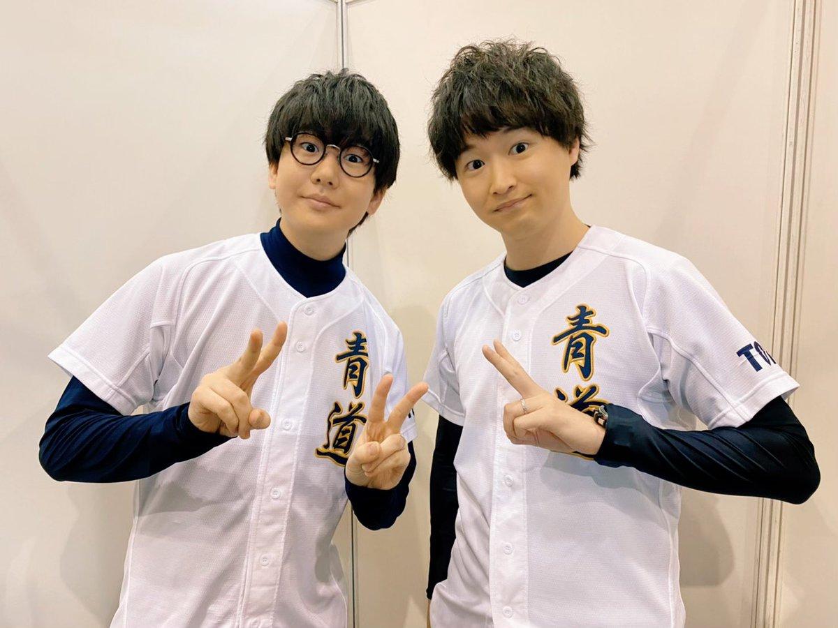 アニゲーフェス2020 in 名古屋ダイヤのA ステージ ありがとうございました!おーさかさんと最新話を生コメンタリー!とても良いステージでした☺️そしてオープニングに出演されていた高橋名人とも一枚!!おはスタぶりの再会でした😊