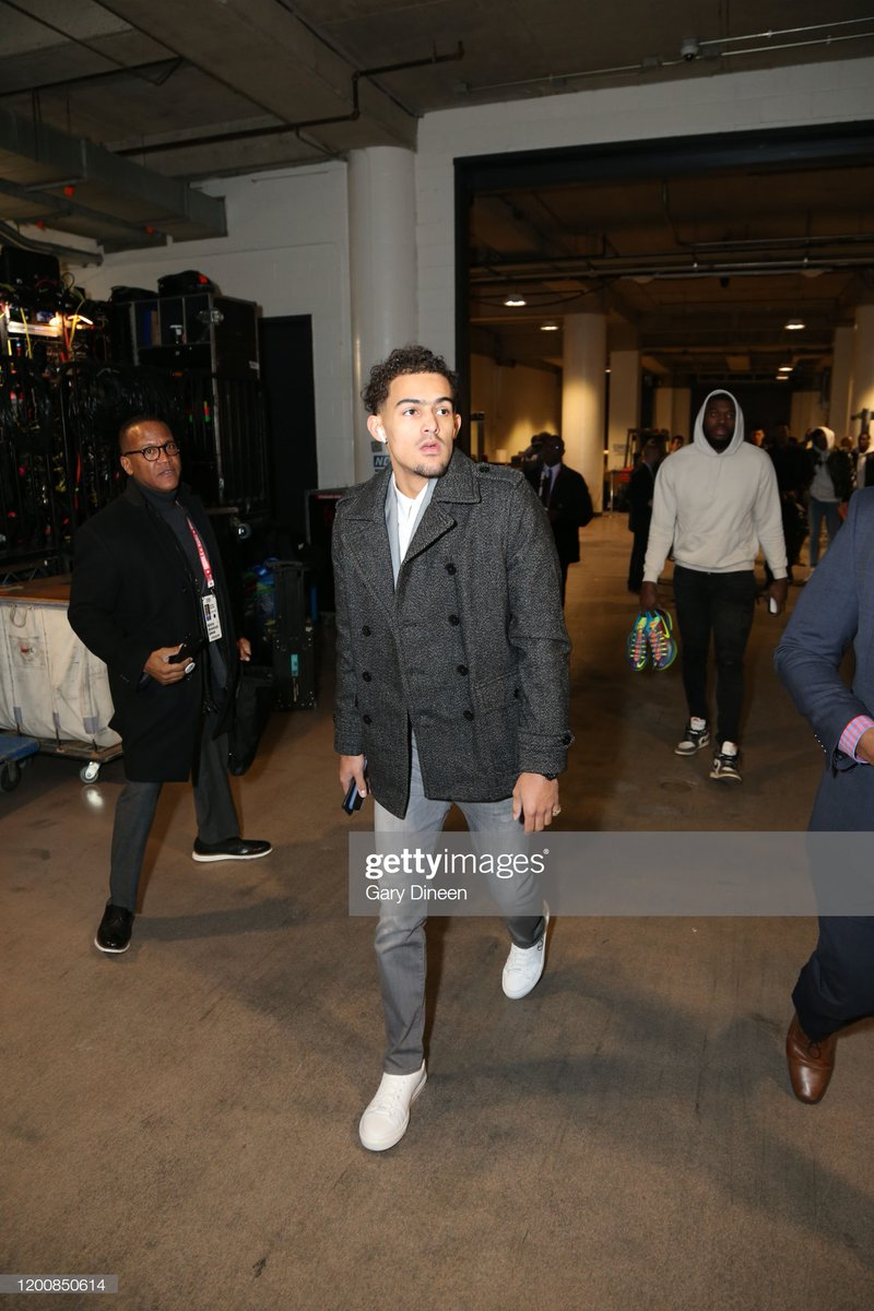 Averaging 29.7 PPG this season, Trae Young arrives at United Center for the 2020 #NBARisingStars Challenge!  🏀: #TeamWorld x #TeamUSA ⏰: 10:00 AM  #NBA #NBAAllStar