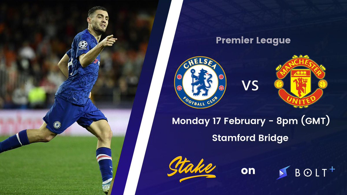 ⚡Stake is open!⚡  Stake is now open for the clash between Chelsea and Manchester United on Monday.  Cast your prediction before 7.59pm (GMT) on 17/2!  Download:   FAQs:   #BOLT $BOLT #Stake #CheMun