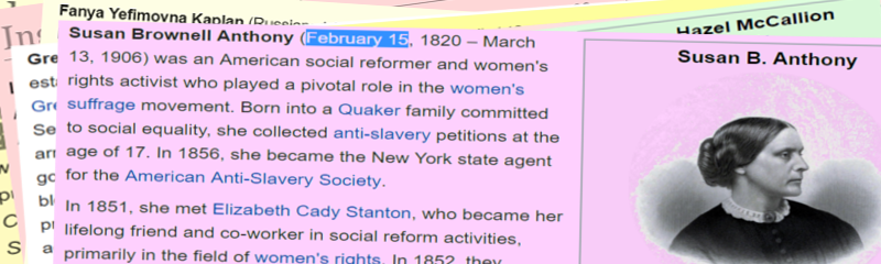 #WomanoftheDay. US Hero Susan B Anthony! She was #bornonthisday and she's #OnOurBanner  Want to know more? then read https://en.wikipedia.org/wiki/Susan_B._Anthony… Do you know more? then read https://en.wikipedia.org/wiki/Susan_B._Anthony…pic.twitter.com/fQ9aS4pr64