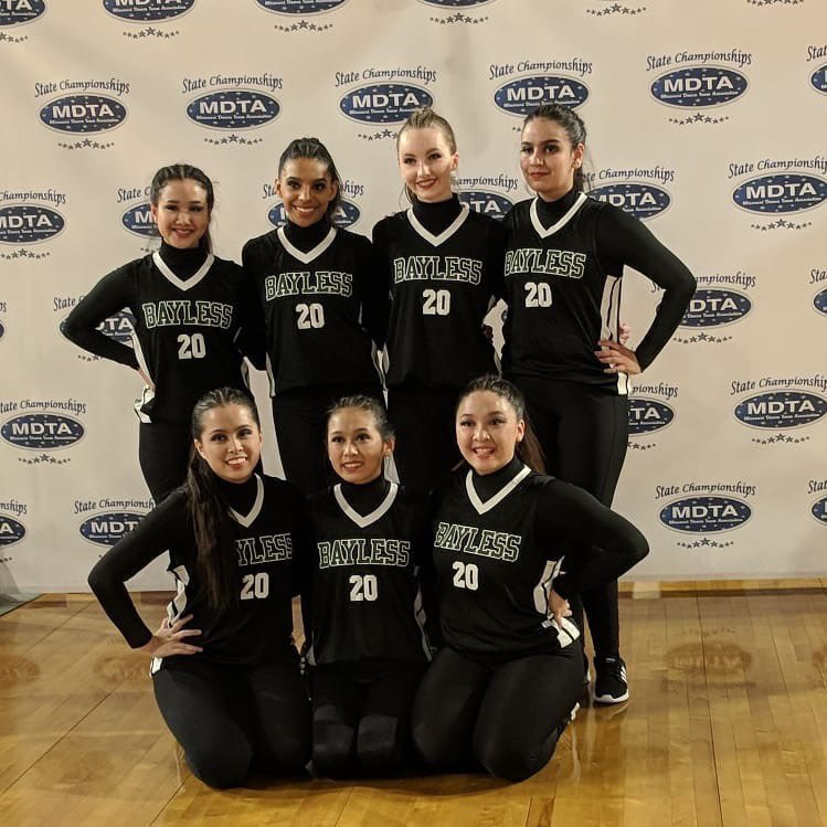 The dance team performed today in KC at the state championships. Awards will be at 8PM.