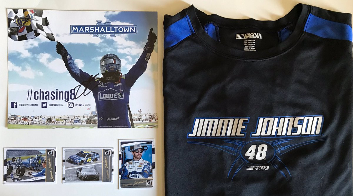 GIVEAWAY!🏁  To celebrate @JimmieJohnson & his last race @ACSupdates I'm giving away a✍🏻 hero card, t-shirt & trading cards.  To win: Follow me  Retweet  Tag 2 friends Type #AutismAwareness in #NASCAR    Winner picked Wed. March 4.   Enter again here👇🏻👇🏻👇🏻 https://t.co/bmVgGHj024 https://t.co/6Ezse5BBer