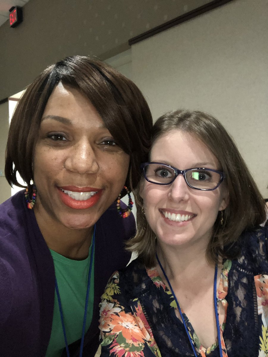 I met @iluveducating at the 2019 Teach Better Conference. We've been Twitter friends since then. We literally screamed & hugged when we saw each other this morning ! 😂 Then she surprised me again by attending my session! 💚 @The_SCAMLE #scamle2020 @teachbetterteam