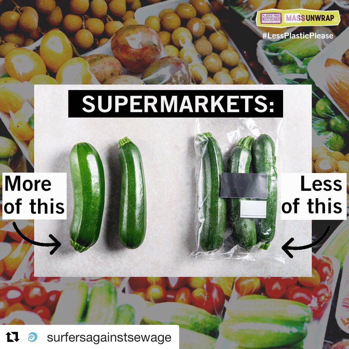 Retweet if you want to see more supermarkets #breakfreefromplastic!