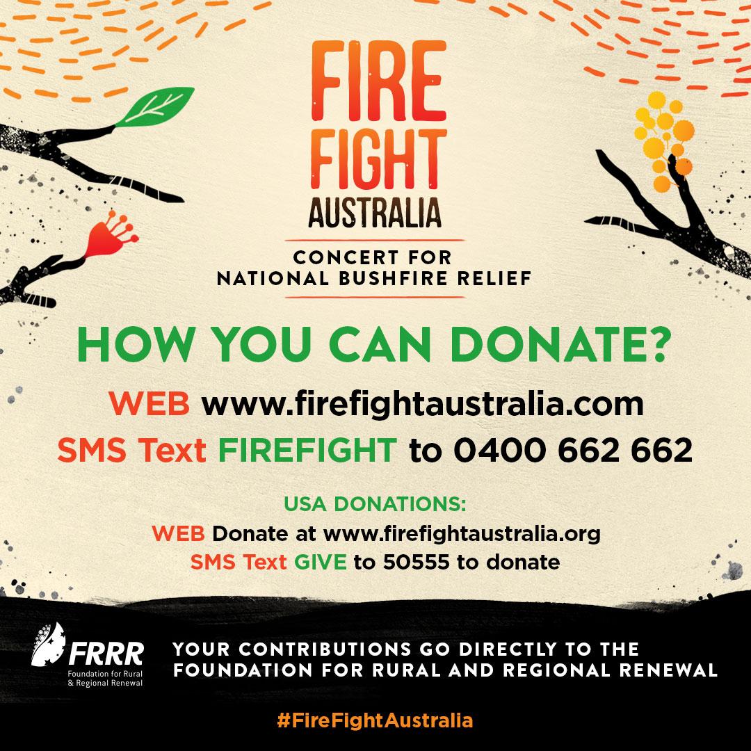 🧡 How you can donate to #FireFightAustralia 🧡 firefightaustralia.com