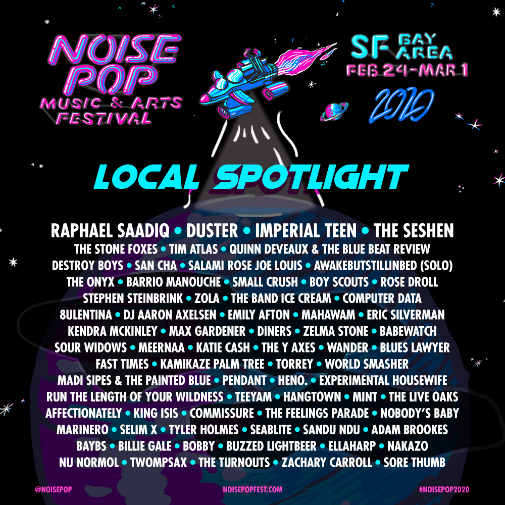 Come support local talent this week for #NoisePopFest including @theseshen , @bscoutsband , & more! See our list on who else to check out. 🌉 @noisepop