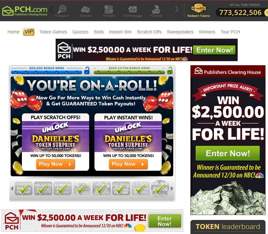 """So... what's the deal the last couple of days with """"outdated"""" banner ads for the 12/30 #PublishersClearingHouse sweepstakes giveaway appearing on @pchdotcom ??pic.twitter.com/vLa6yUxtnb"""