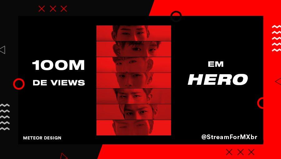 [MONSTA X FIRST 100M]  Views atuais: 99.544.263 📎  #Hero100M #HERO #MONSTA_X @OfficialMonstaX