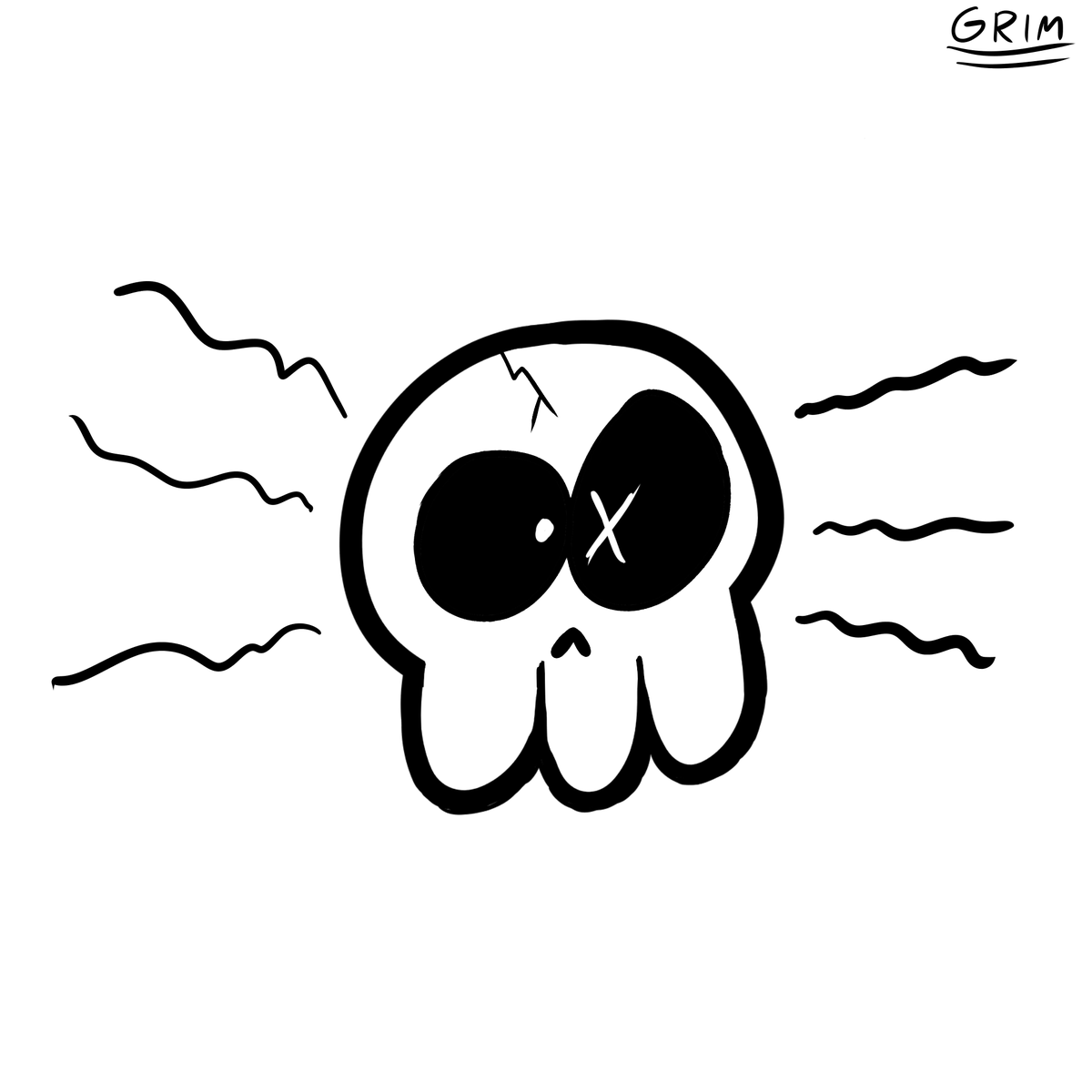 First drawing on my new table! jus a skull... pic.twitter.com/GrRJ05X1W8