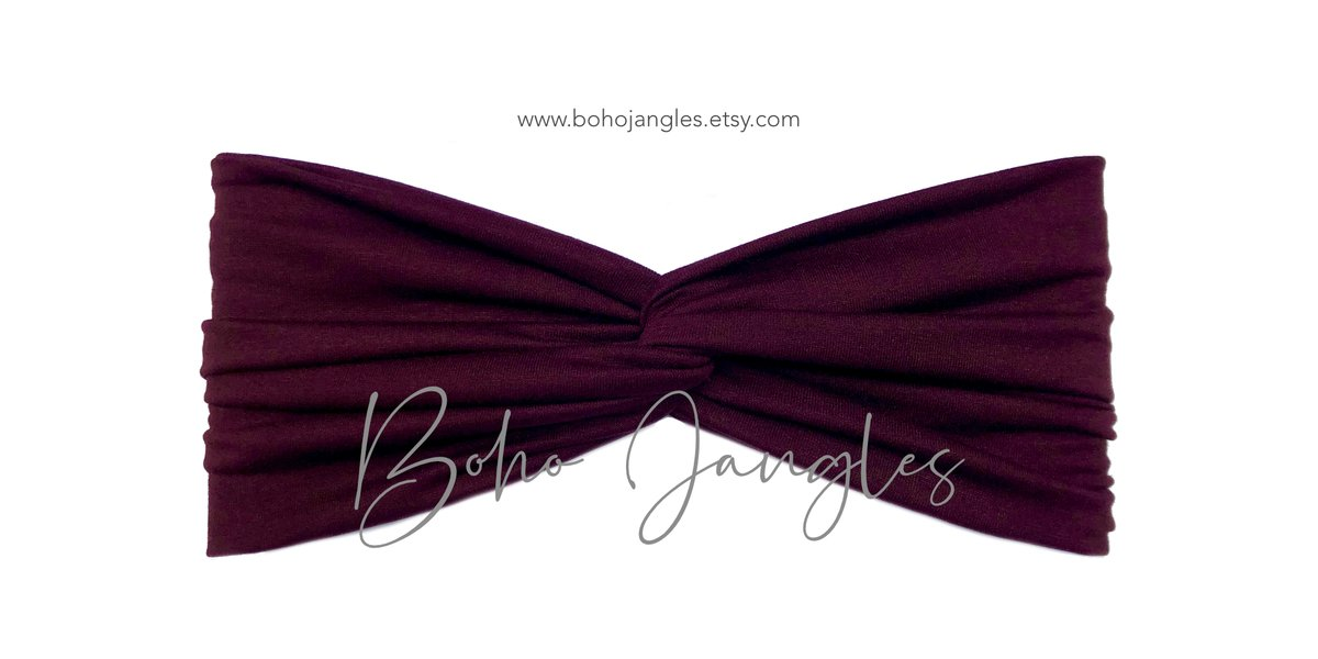 Soft and comfy jersey turban headbands from @BOHO_JANGLES - the quickest way to style up your hair! Loving the Burgundy turban right now >   #handmade #yoga #fit #gym #fashion #hair #ootd #trend #fav #epiconetsy #exercise #beauty