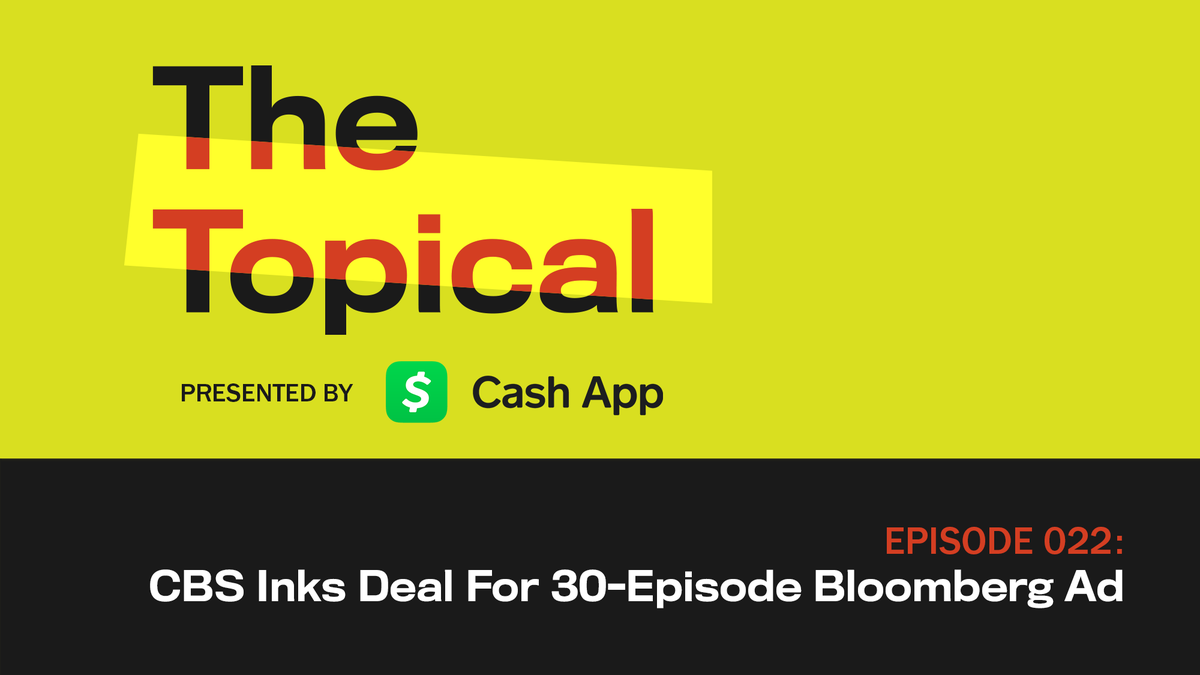 "Hear why CBS studio executives are calling the decision to order up a full series of long-form ads from the Bloomberg campaign a ""no-brainer"" on today's episode of The Topical. https://trib.al/JOTA4P8"