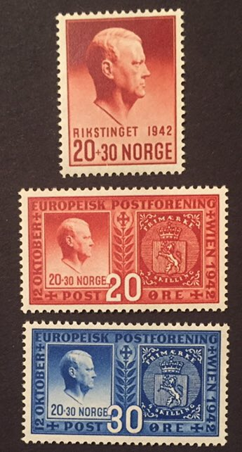 Norway- Quisling, he headed a domestic Nazi collaborationist regime during World War II. It didn't end well for him! #stamps #philately <br>http://pic.twitter.com/rzQPkFQpcl