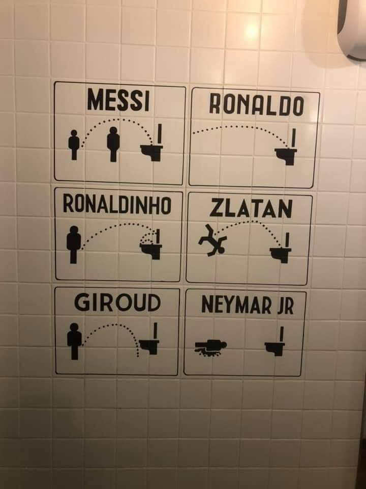 Cosas del #fútbol jajajajaja #Messi #Ronaldo #Ronaldinho #Zlatan #Neymar