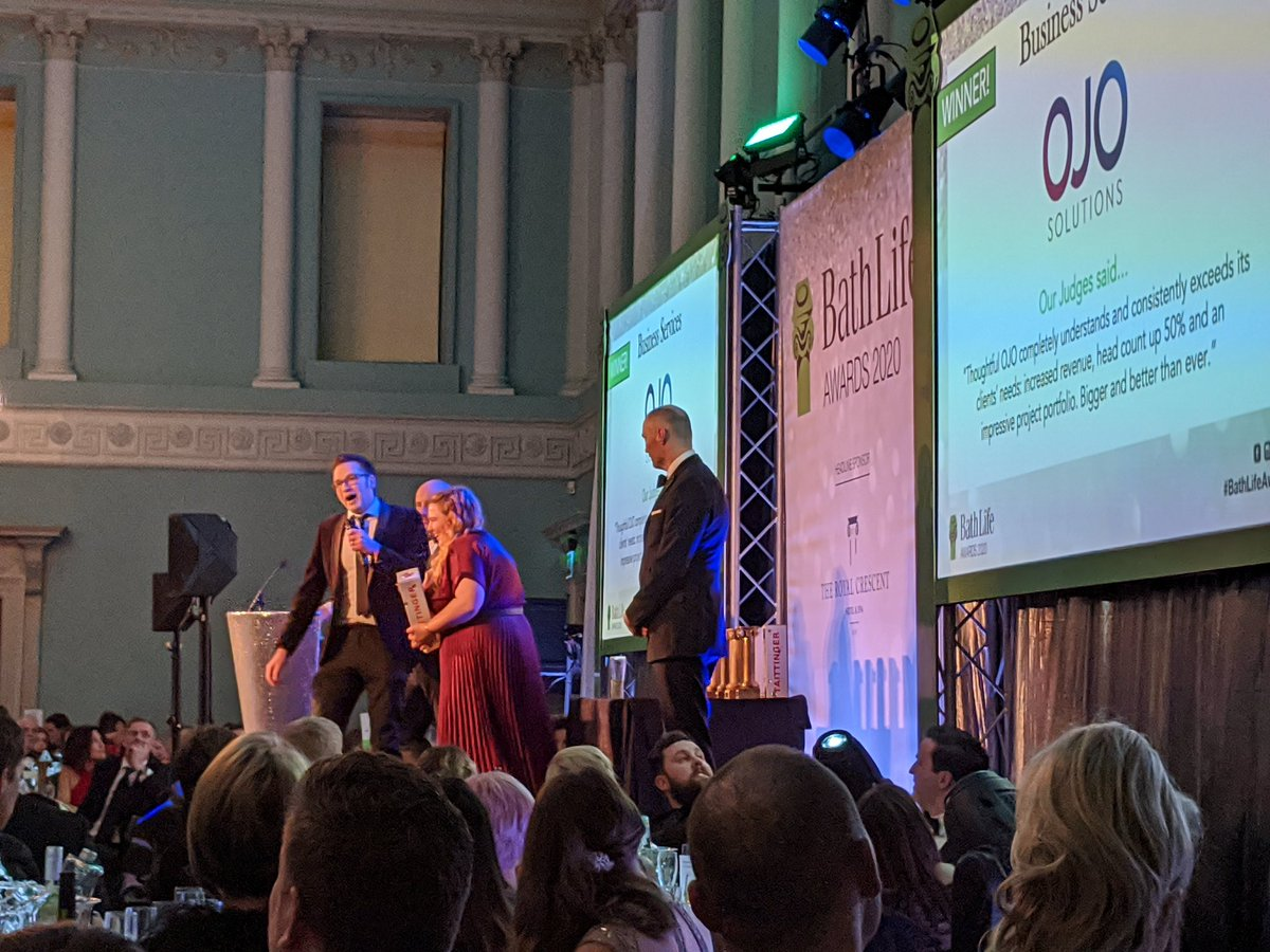 Congratulations to @ojosolutions on their @BathLifeAwards win ... Well deserved!