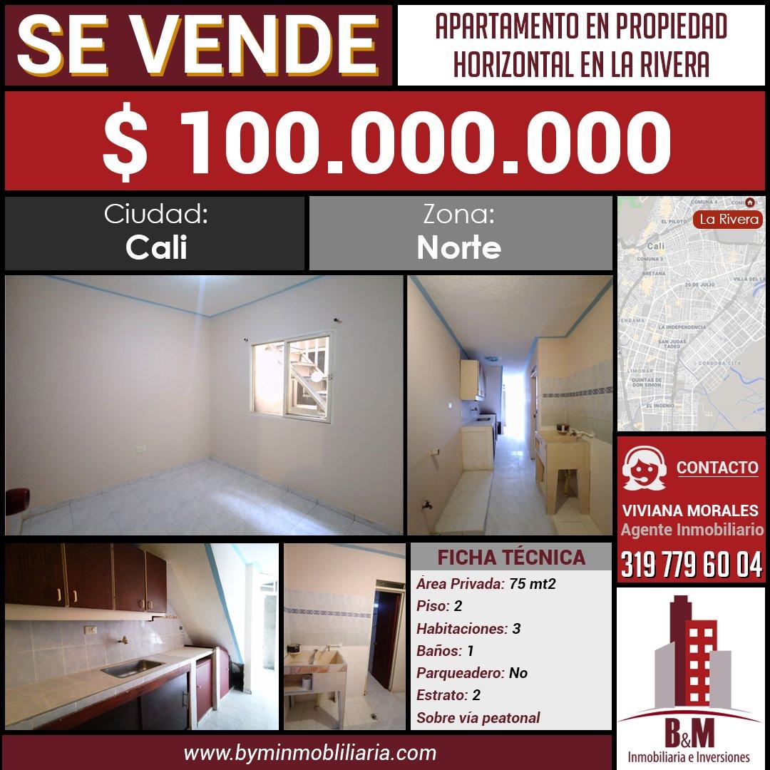 #SeVende🏢 Apartamento en segundo piso.📲 (+57) 3164362925☎️ (2) 3843463.Ver más ➡️https://byminmobiliaria.com/main-inmueble-info-1889617.htm….#Venta #Apartamento #LaRivera #Norte #Cali #CaliCo #BienesRaices #Inmobiliaria #Inversiones #BYM