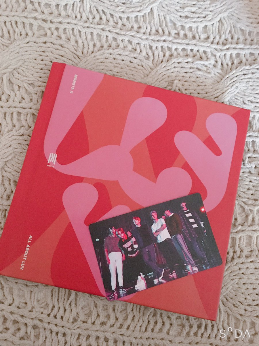 My All About Luv album finally came in! #MONSTA_X #AllABOUTLUV #MONBEBE ❤️💖❤️