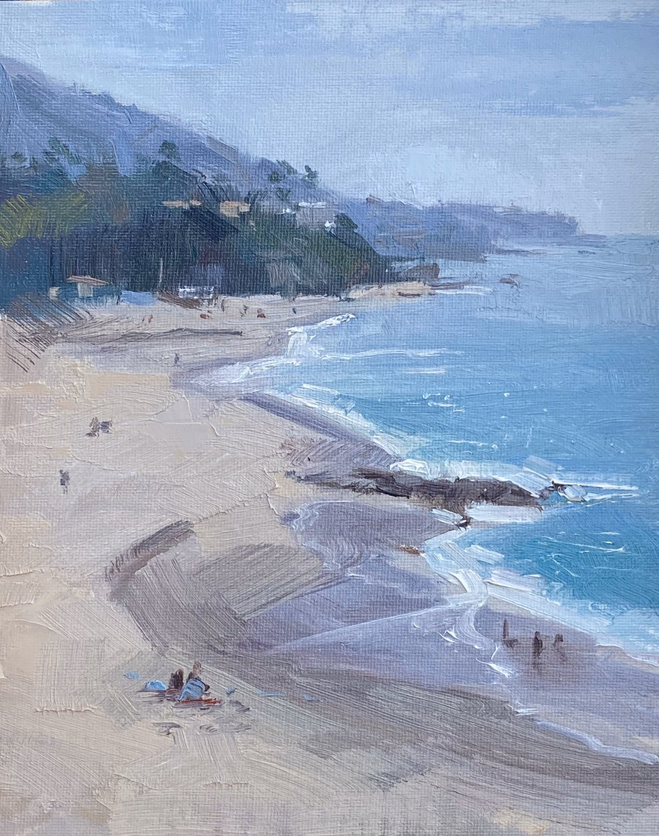 No comment #sea #nature #landscape #ocean #beach #Seascape #art #oilpainting #natureart #artwork #realism #impressionism #contemporaryartist  #California #fineart #allaprima #pleinair #representational #lagunabeach #montage #lcad #lcadfaculty