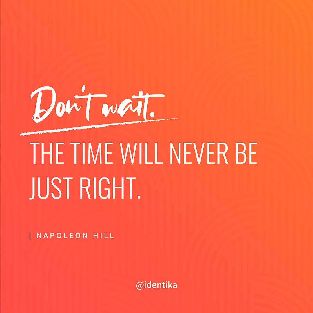 There's no such thing as the perfect moment to take action. If you wait too long it will never happen!  #motivationalspeaker #successmindset #motivationalquotesdaily #motivationalposts #motivationalqoutes #motivationdaily  #mindsetiseverything #motivateyourself #identikapic.twitter.com/EPRGgcNtVX