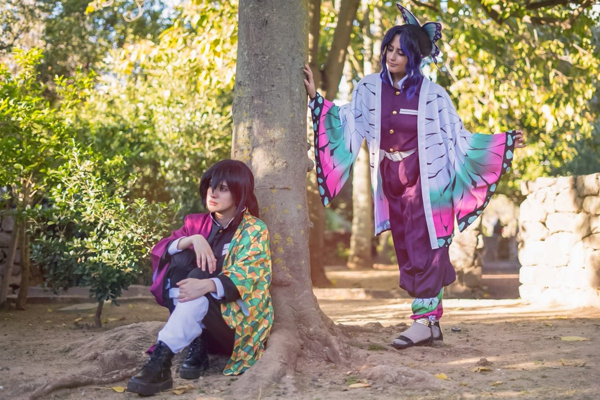 Been really enjoying editing lately 💜💙💜💙 #photography #cosplay #kimetsunoyaiba #Shinobu #Giyu