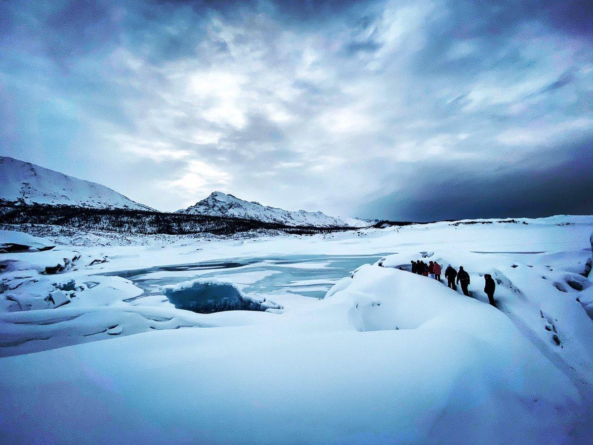 Ants marching 🐜🐜🐜 #matanuskaglacier #alaskaglaciertours #blueice #guidedalaskaglaciertours #winteradventuretours #winteractivities #winterglaciertours #glacier #alaska #travelalaska #matsuvalley #glennhighway #scenicbyway