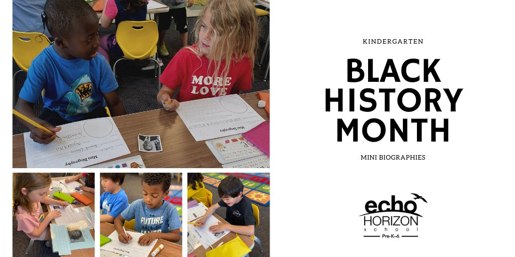 As #Kindergarten continues to celebrate #BlackHistoryMonth , they worked on their mini #biographies on #RubyBridges, #MartinLutherKingJr , #BarackObama, #MichelleObama, and #JackieRobinson. <br>http://pic.twitter.com/Exugj8pcsI