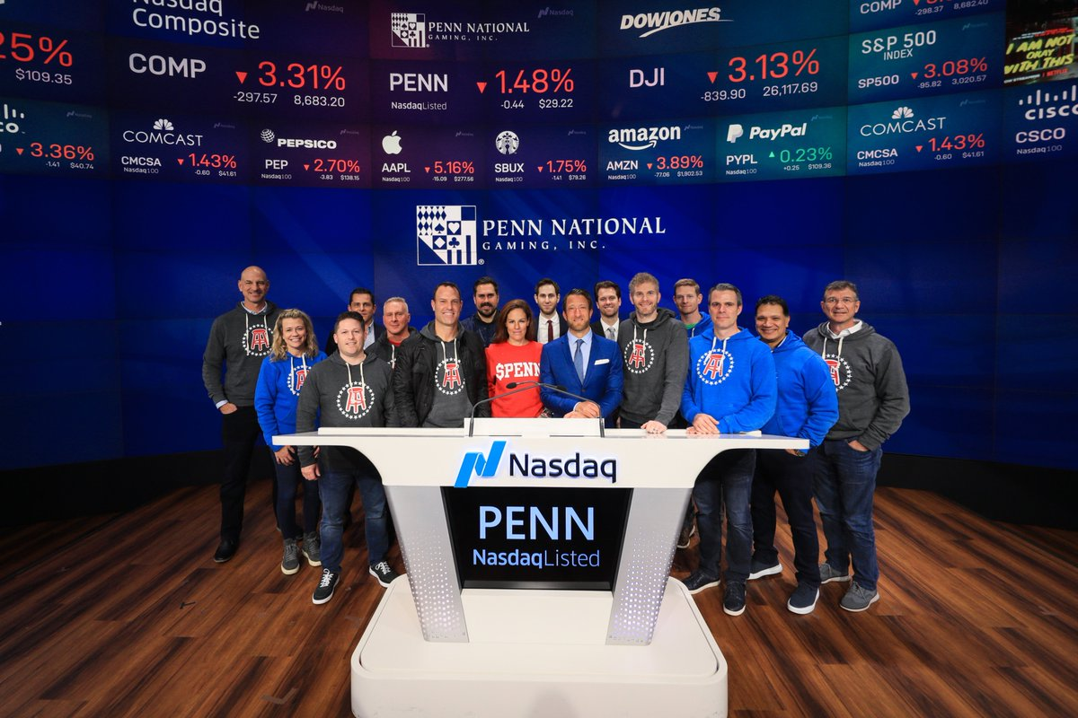 """Penn National Gaming on Twitter: """"Today we rang the bell. #NASDAQ… """""""