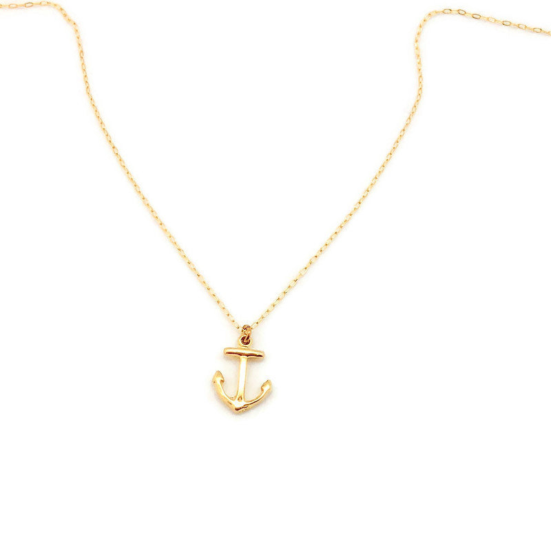 Excited to share the latest addition to my #etsy shop: Gold Anchor Charm Necklace, Minimalist Jewelry  #jewelry #necklace #gold #women #minimalist #cable #birthday #christmas #accessories #summer #anchor #summercharms #sea #ocean