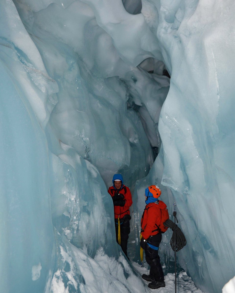 Come and explore the caverns of the Don Sheldon Amphitheater w/ our expert guides! We'll outfit you w/ excellent gear, take you through our Glacier School, & venture into incredible places both above & below ground! No prior experience required. -Robert #ExperienceGrand #glacier