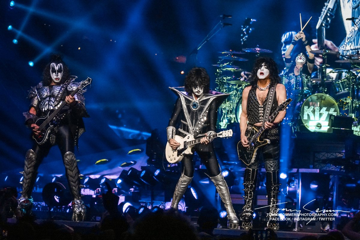 KISS in Buffalo, NY on the End of the Road Tour.  Photo by Tommy Sommers.  Forget the haters, we won!   #kiss #kissarmy #threesidesofthecoin #teamkiss #celebratekiss #wewon