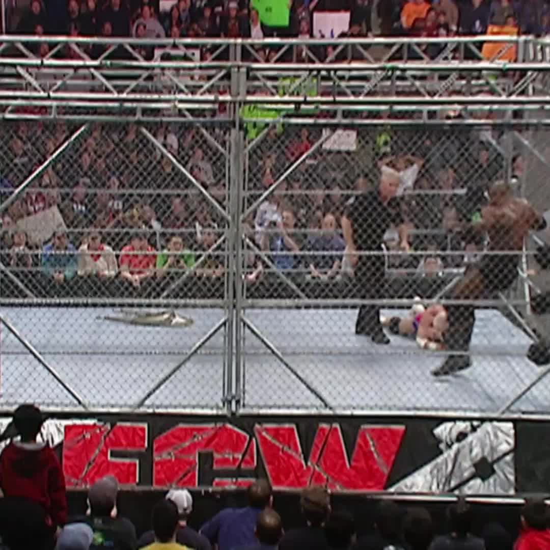 13 years ago today, @fightbobby launched himself THROUGH a Steel Cage on #ECW! 🤯🤯🤯