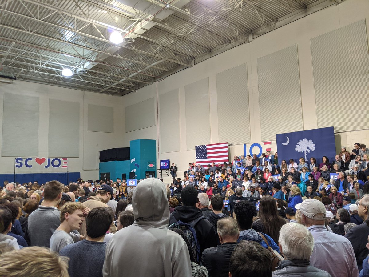 Biden event at Coastal Carolina in Conway, SC is getting started