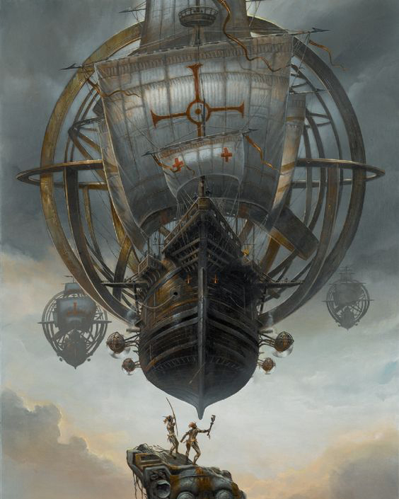 """""""The great hero who chiseled the Ten Commandments in stone wears goggles? And he rides in an airship?"""" Excerpt from #TheEngineWomansLight. Buy now on Amazon! #steampunk"""