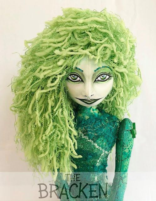 Fun, Factual, Weird, and Breathtaking: The Bracken®, Much More Than Just A Doll  #doll #thebracken #mermaid #fairy #faerie #nymph #woodlands #art #atlantis, #avalon #black #blue #embellished #fabric #green #handmade #leaf #morgan #ocean #persia #river #sea