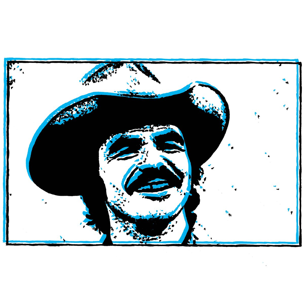 """For the money, for the glory, and for the fun. Mostly for the money ..."" . Part 2 in a new #MovieArt #triptych inspired by #SmokeyAndTheBandit! Here's #BurtReynolds as #Bandit! . #ActionMovies #ComedyMovies #PopArt #Drawing #CMYK"