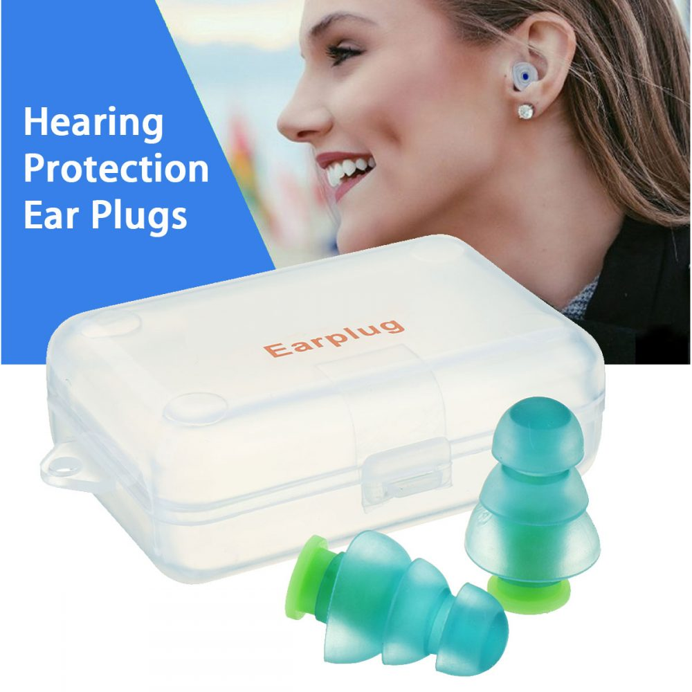 #happy #trip Waterproof Green Silicone Earplugs