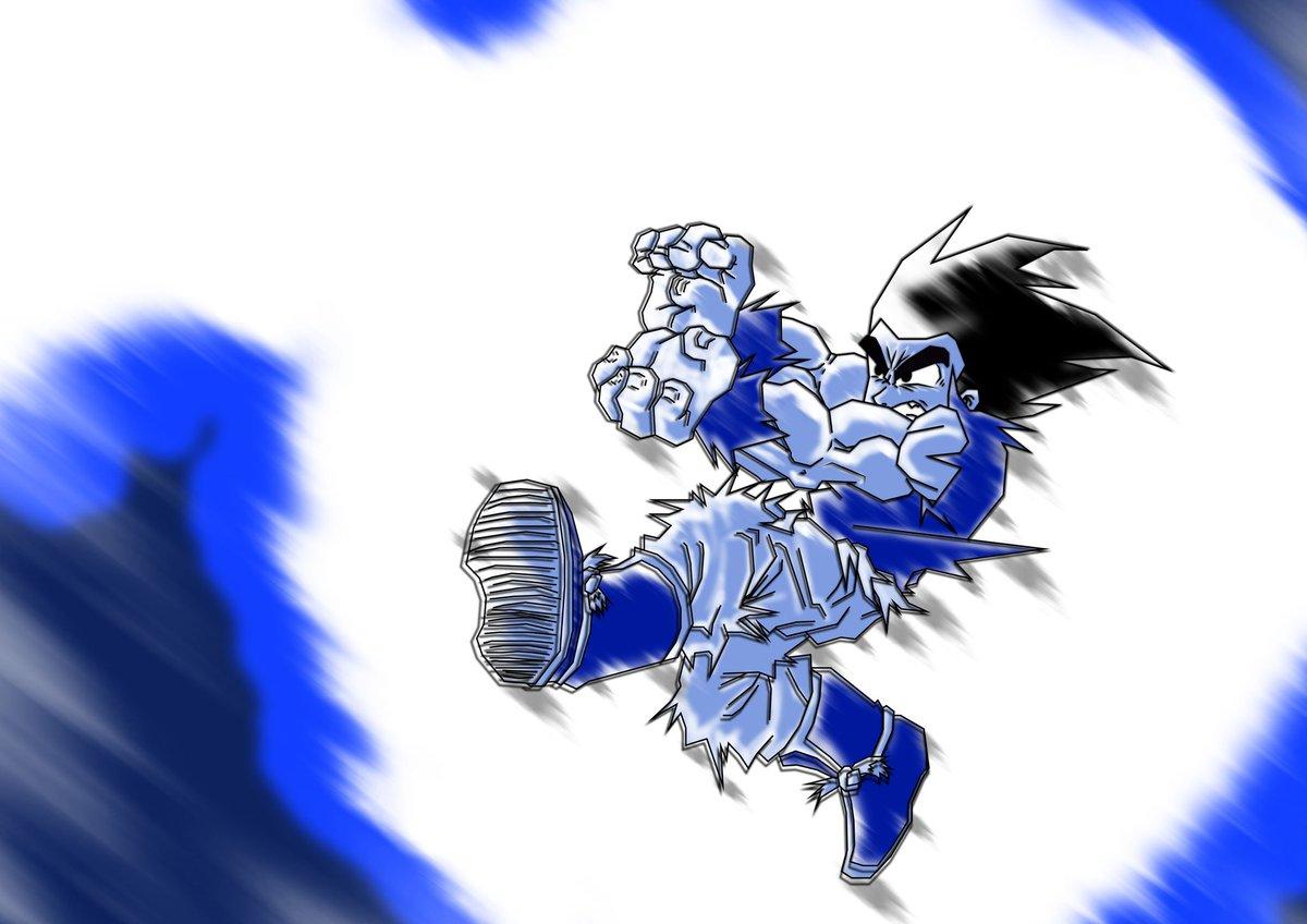 Vetorizei e colori esse Goku de 13 anos atrás, a intenção era fazer tudo no illustrator com uma técnica diferente, mas pintura pra mim é Photoshop mesmo, não tem jeito, da pra fazer de vários estilos #drawing #illustration #vetor #digitalpainting #goku