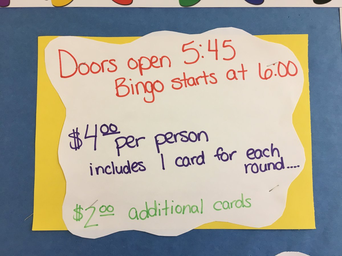 Bingo Night! Friday February 28. Simpson Gym.